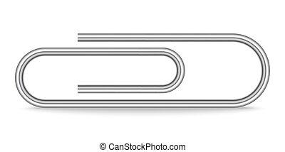 Paper clip icon - vector.