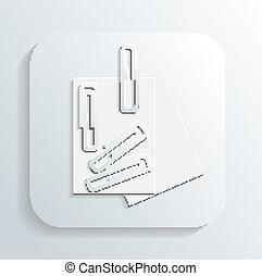 paper clip icon vector