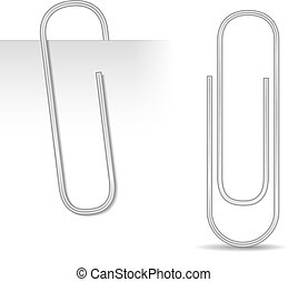 Paper Clip - Metallic paper clip, vector eps10 illustration