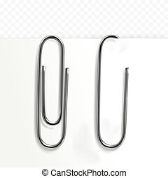 Paper clip stationery vector illustration