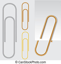 Paper clip, vector eps10 illustration