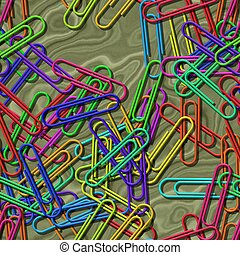 Paper clips seamless generated texture background