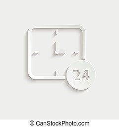 paper clock  - vector icon