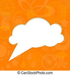 Paper cloud on funky background