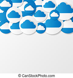 Paper clouds. Vector illustration.