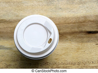 paper coffee cup on the table