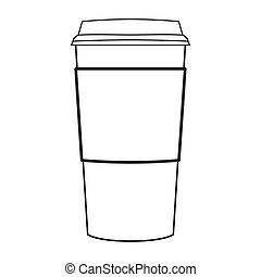 paper coffee cup outline vector - image of paper coffee cup...