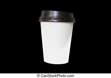 Paper coffee cup with clipping path