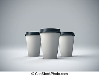 Paper coffee cups mock-up.