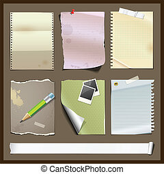 Paper collections design background, Vector illustration