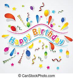 Paper Confetti Background for Birthday