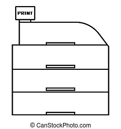 Paper container icon, outline style