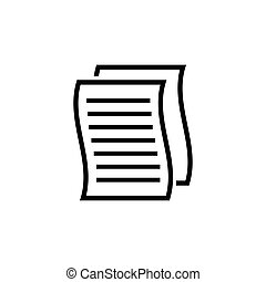Paper Copy File, Document Flat Vector Icon