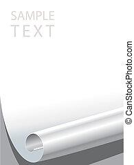 Paper Corner Bended - Vector file of blank paper corner...