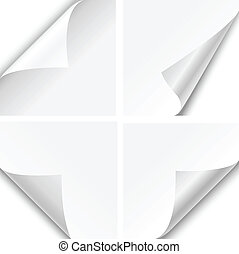 Paper Corner Folds - Set of four paper corner folds isolated...