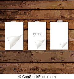 Paper Corner Folds. Vector illustration