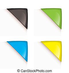 Paper corner icons