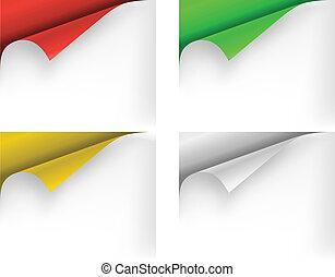 Paper corner. Vector illustration.