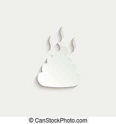 paper Crap icon. Pile of poo icon vector