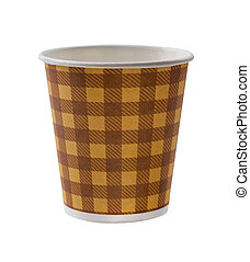 Paper cup coffee isolated on white background