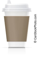 Paper cup for fast-food drink. Eco mug for tea, coffee,...