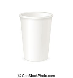 Paper Cup Template Vector