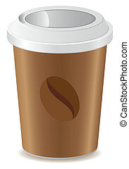 paper cup with coffee vector illustration isolated on white...