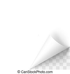 Paper Curl - Curled White Paper Corner with Transparent ...