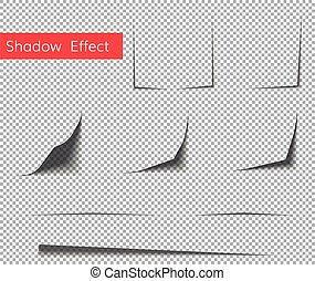 paper curl shadow effect . Paper sheet shadow effect