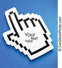 Paper cursor hand