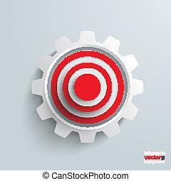 Paper Cut Arrow Target Gear