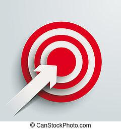Paper Cut Arrow Target