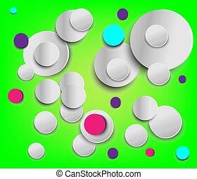paper cut graphic creative circle