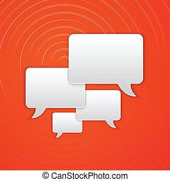 Paper Cut Speech Bubble Background. Vector Illustration
