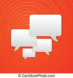 Paper Cut Speech Bubble Background. Vector Illustration