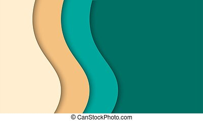 paper cut wave multicolor abstract background vector illustration best for background, poster and banner design