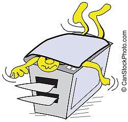 Paper cutter at work print service