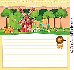 Paper design with farm theme