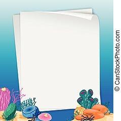 Paper design with underwater scene
