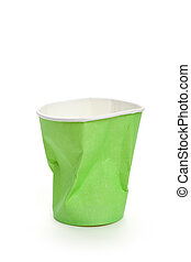 Disposable Cup - Paper Disposable Cup with white background