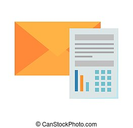 paper document financial with envelope