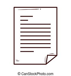 paper document icon on white background
