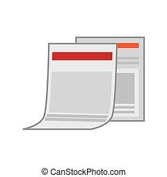 paper document , vector illustration