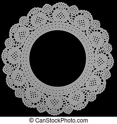 Paper doily background or frame - Lacey background featuring...