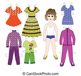 paper doll to play with a set of cl