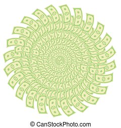 Paper Dollars Isolated on White Background. American Banknotes. Cash Money. US Currency