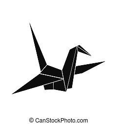 Paper Dove icon, simple style
