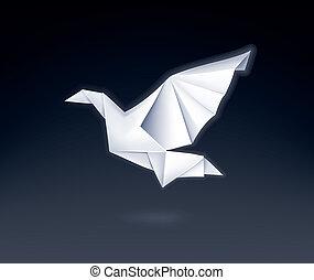 Paper Dove, vector