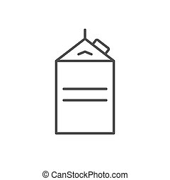Paper drink package line outline icon