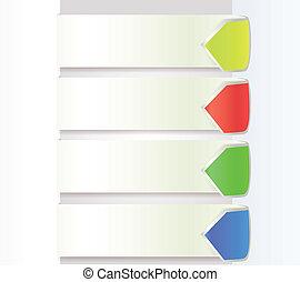 Paper Drop Shadow With Arrow Color